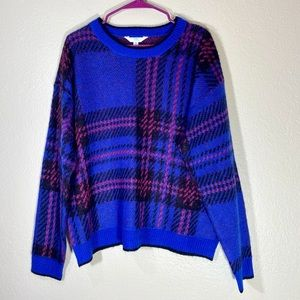 Time & Tru Sweater Nwt oversized eyelash pattern